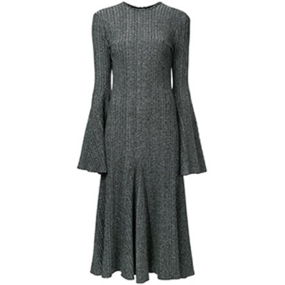 Conrad Ribbed Stretch-Knit Midi Dress