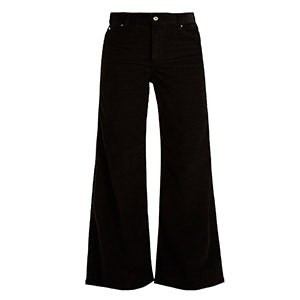 Charlotte High-Rise Wide-Leg Corduroy Trousers