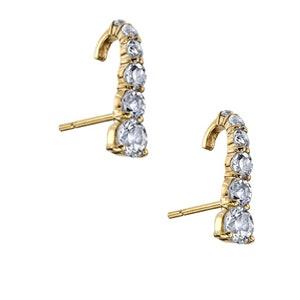 White Topaz Suspender Earring Pair