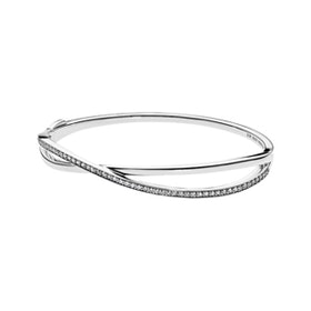 Entwined Bangle Bracelet in Sterling Silver