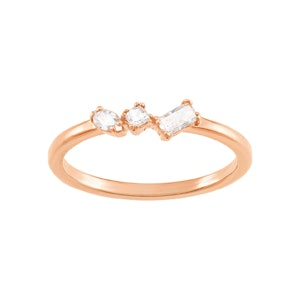 Frisson Mixed Cuts Ring in Rose Gold