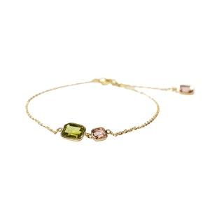 Peridot & Pink Tourmaline Bracelet