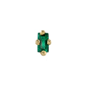 Mini Emerald Baguette Stud