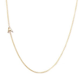 14K Gold Asymmetrical Letter Necklace