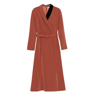 Belted Midi Wrap Dress