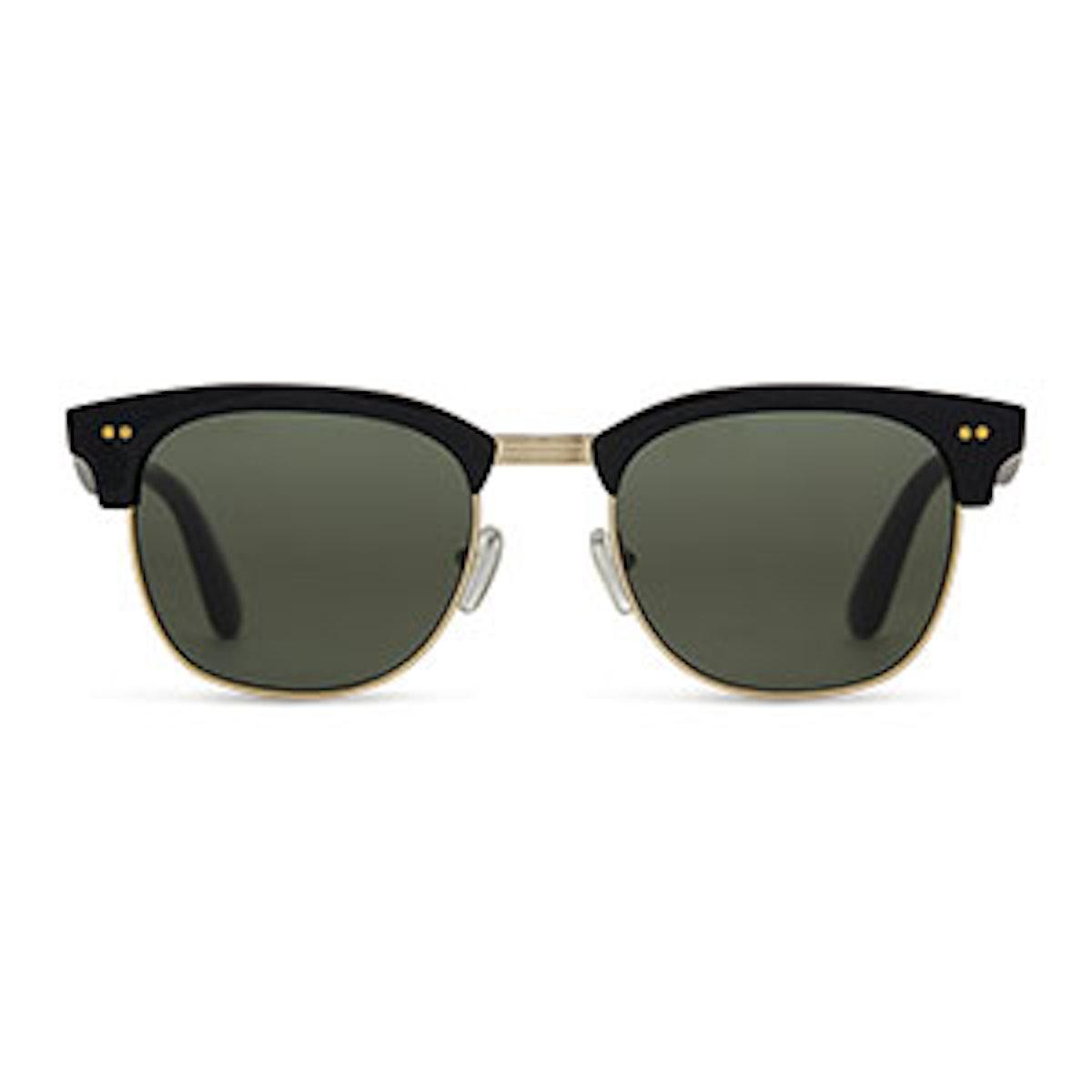 Gavin Shiny Black Polarized Sunglasses