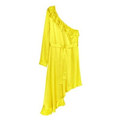 Asymmetric Flounced Dress