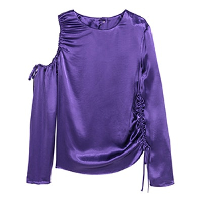 Satin Top With Drawstrings