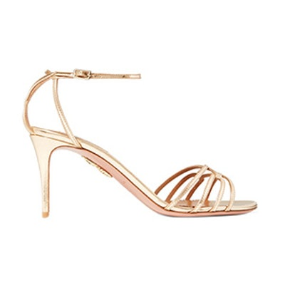 First Kiss Metallic Leather Sandals