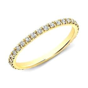 14kt Yellow Gold Diamond Eternity Stacking Ring