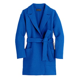 Wrap Coat in Boiled Wool