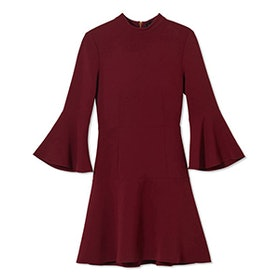 Califa Bell-Sleeve Stretch-Crepe Mini Dress