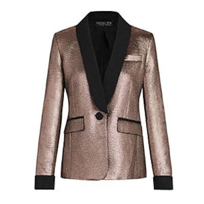 Toni Mauve Metallic Jacquard Blazer