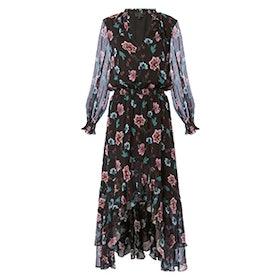 Vera High-Low Floral-Printed Dress