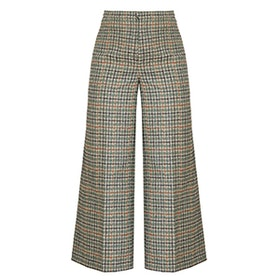 Trevi High-Rise Wide-Leg Cropped Trousers