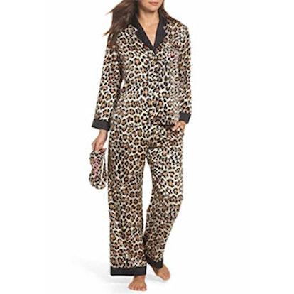 Leopard Print Charmeuse Pajamas