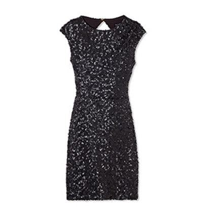 Knott Open-Back Sequin Mini Dress