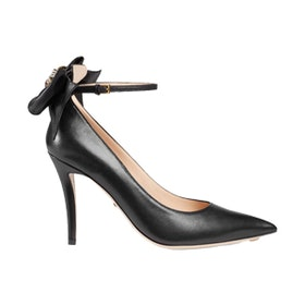 Leather Pump With Bow