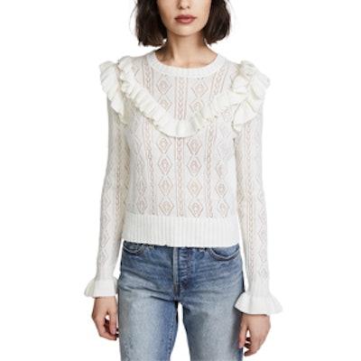 Natalie Ruffle Sweater