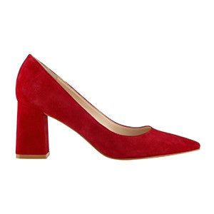 Zala6 Block Heel Pointy Toe Pump