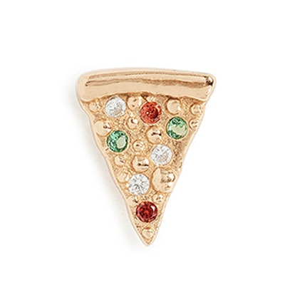 Pizza Single Stud Earring