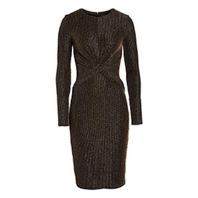 Twist Waist Metallic Dress