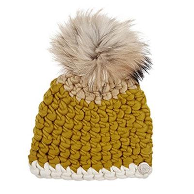 Fur Pom-Pom Wool Hat