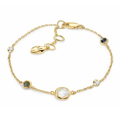 18K Gold Vermeil Orbit Gemstone Bracelet