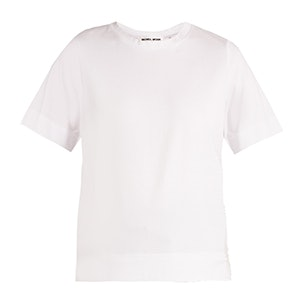 Tulle-Trimmed Cotton-Blend T-Shirt