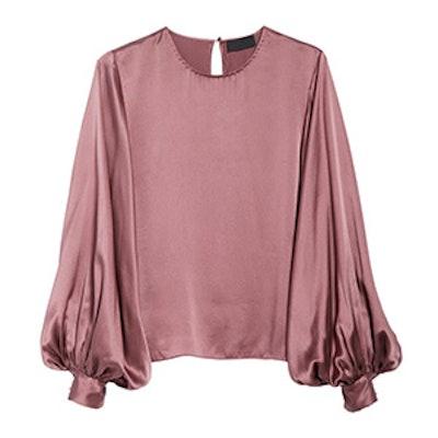 Loretta Silk Puff Sleeve Blouse
