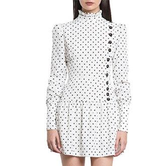 Irina Polka Dot Button Dress