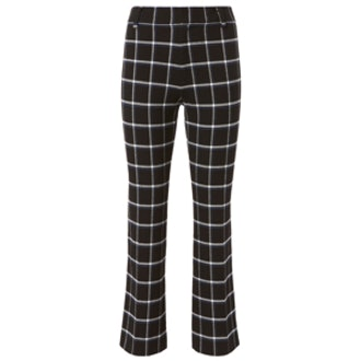 Box Grid Crop Flare Trousers