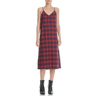 Ella Plaid Slip Dress