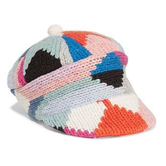 Patchwork Wool-Blend Cap