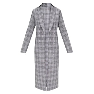 Check Tailored Duster Coat