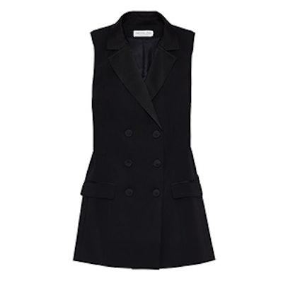 Brigitte Tuxedo Vest Mini Dress