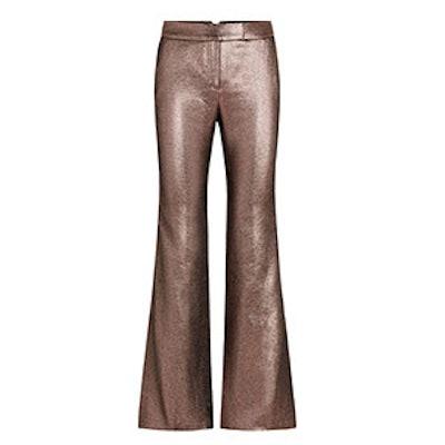 Bruno Mauve Metallic Jaquard Pants
