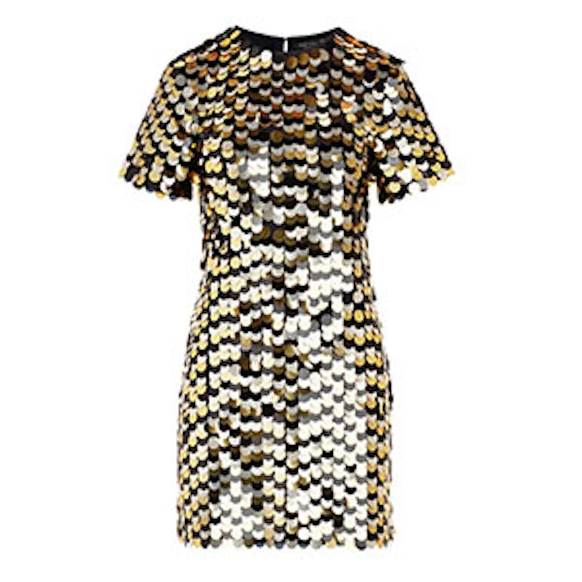 Elsa Paillette Embroidered Mini Dress