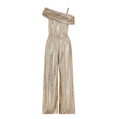 Georgina Metallic Strech Jersey Jumpsuit