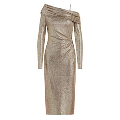 Glenda Metallic Stretch-Jersey Dress