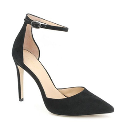 Hayworth Ankle-Strap Suede Pumps