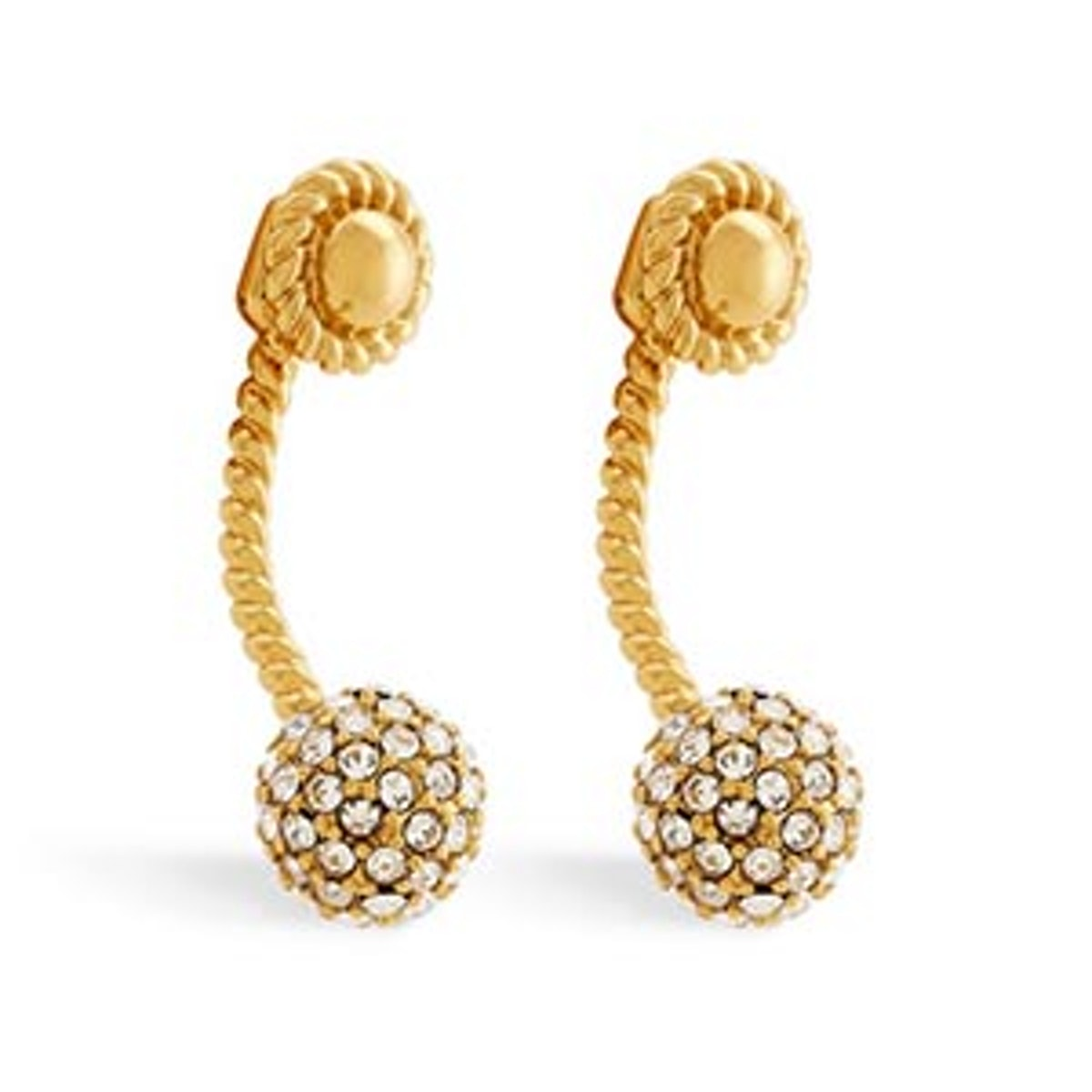 Jesse Crystal Pavé Drop Earrings