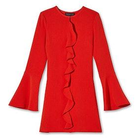 Monner Bell-Sleeve Stretch-Crepe Mini Dress