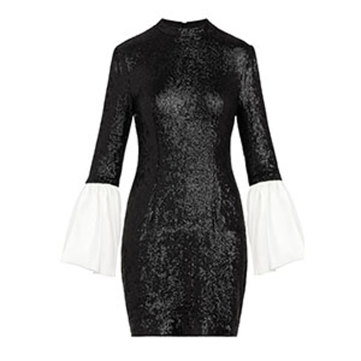 Wes Bell Sleeve Fluid Sequin Dress