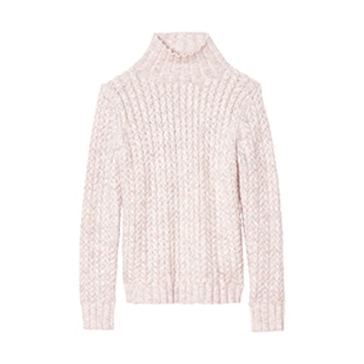 Marled Cable Turtleneck Pullover
