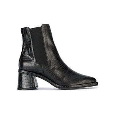 Black Snake Effect Chelsea Boots