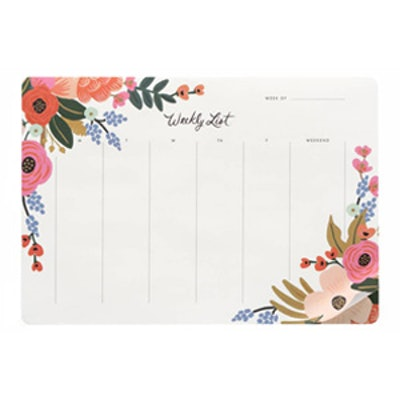 Lively Floral Everyday Weekly Desk Pad