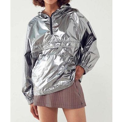 Silence+Noise Iridescent Packable Windbreaker Jacket