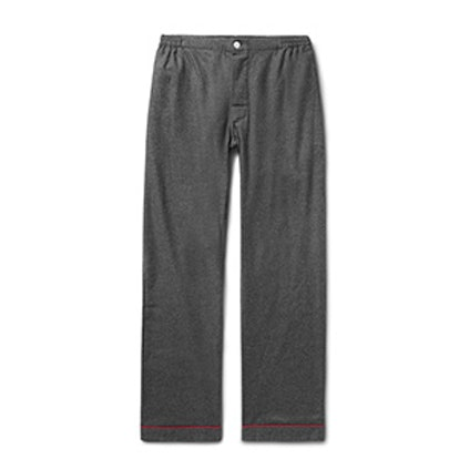 Marcel Piped Cotton-Flannel Pyjama Trousers