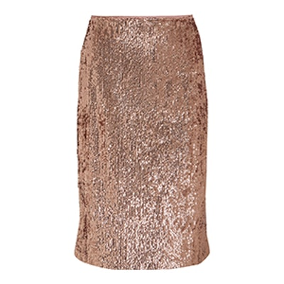 Sequined Crepe Skirt